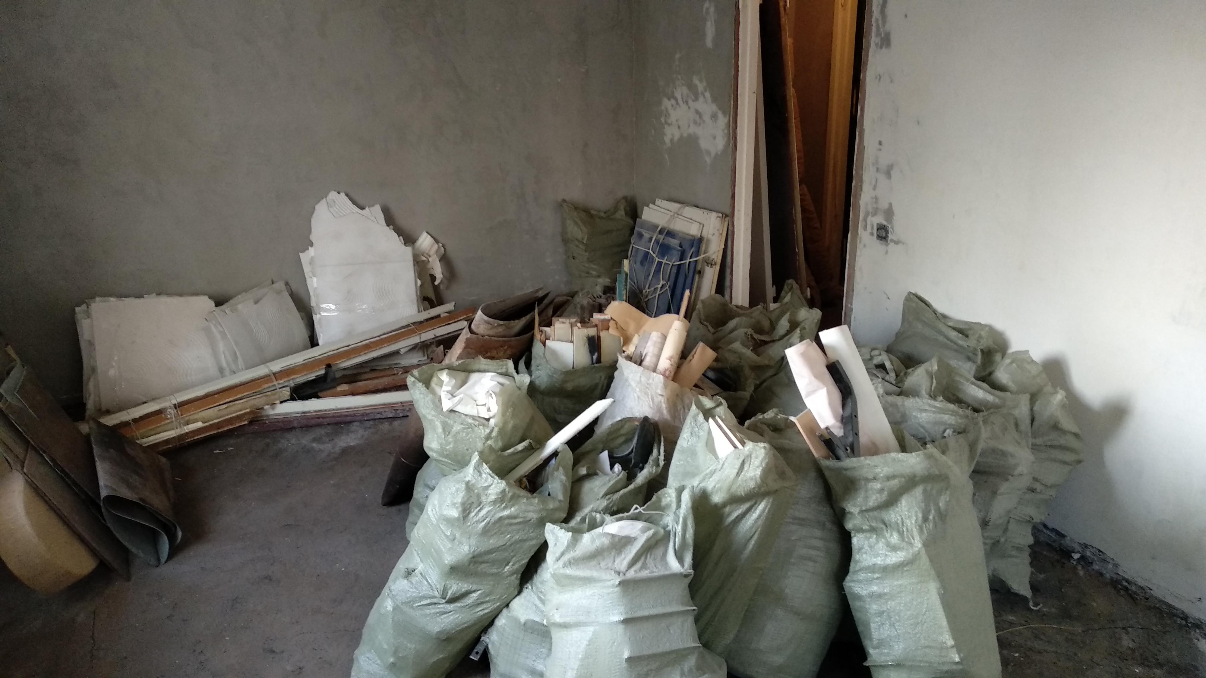 вывоз мусора при ремонте